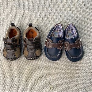 Baby Boy Loafers size 2 / 3 Shoes brown blue